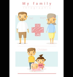 Family background and infographic 3 vector image vector image
