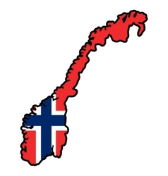 Map in colors of Norway vector image vector image