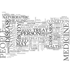 why choose naturopathic medicine text word cloud vector image vector image