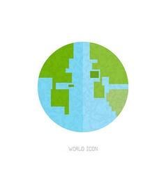 Abstract globe bit vector image