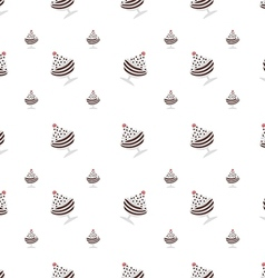 background for chocolate ice cream in cup vector image