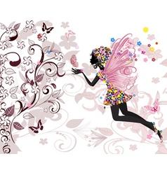 fairy pattern vector image
