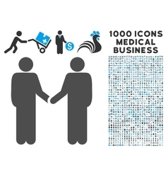 Persons Handshake Icon with 1000 Medical Business vector image vector image