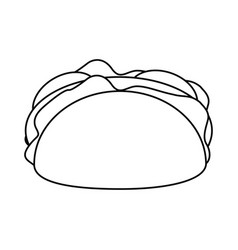 taco mexican food thin line vector image
