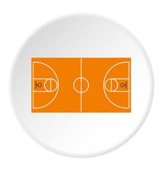 basketball field icon circle vector image vector image