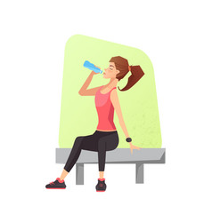 exhausted woman dehydrated feeling exhaustion vector image