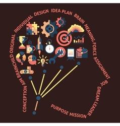 Idea head concept vector image