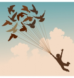 pigeon boy vector image vector image