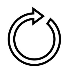 rotate arrow line icon vector image vector image