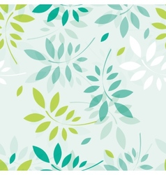 spring background with branches and leaves vector image