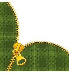 Zipper tartan vector image