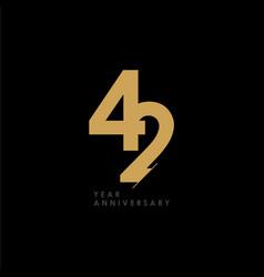 42 year anniversary celebration template design vector