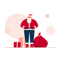 a good-natured santa claus vector image
