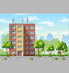 a modern family house with trees vector image