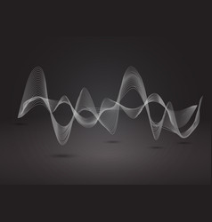 abstract dynamic line on balck background vector image
