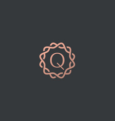 Abstract linear monogram letter q logo icon design vector