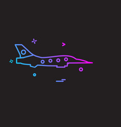 aeroplane icon design vector image