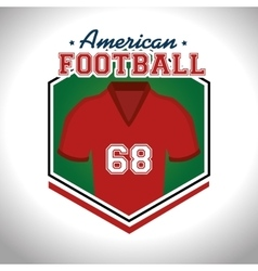 American Football sport game vector