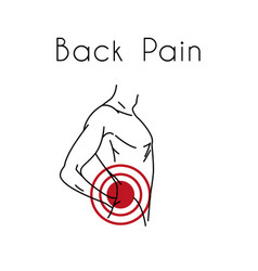 Back pain with man vector