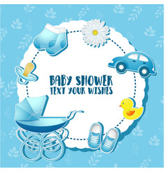 Bashower set invitation template with place fo vector