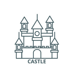 big castlegermany line icon big castle vector image