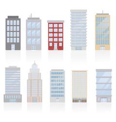buildings modern city metropolis vector image