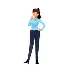 businesswoman cartoon employee female character vector image