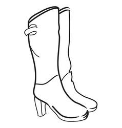 Cartoon image of high boots vector
