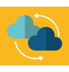 Cloud arrow data center web hosting vector