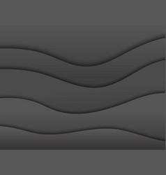 Dark abstract wavy horizontal background vector