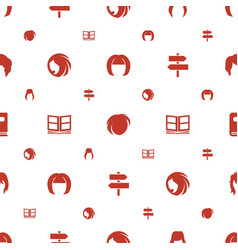 Different icons pattern seamless white background vector