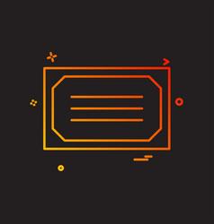 Diploma award winner icon design vector