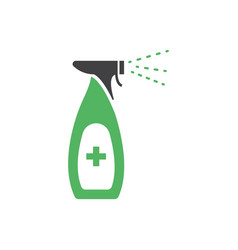 disinfectant spray icon design template isolated vector image