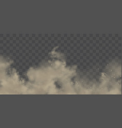 Dust cloud with soil particles realistic vector