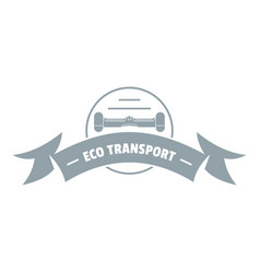 Eco gyro scooter logo simple gray style vector