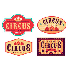 emblems circus fun carnival festival retro paper vector image