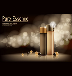 essence contained ads gold and bronze vector image