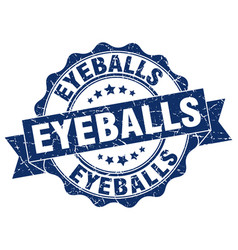 eyeballs stamp sign seal vector image