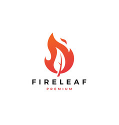 fire leaf logo flame icon design inspirations vector image