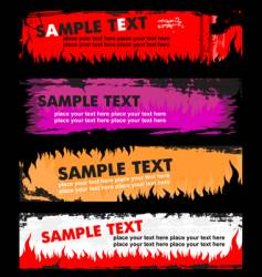 Flame grunge banners vector