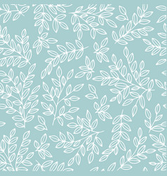 gentle seamless pattern with branches for design vector image