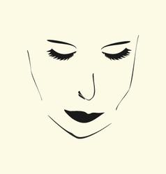 Girls face vector
