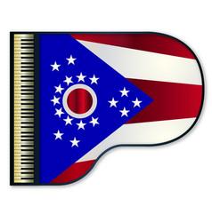 Grand piano ohio flag vector