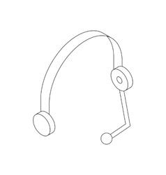 Headset icon isometric 3d style vector