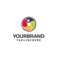 Human health care logo physiotherapy logo vector