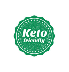 Keto friendly sign or stamp on white background vector
