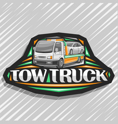 Logo for tow truck vector