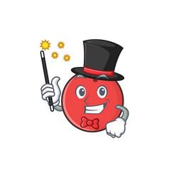 magician bowling ball character cartoon vector image