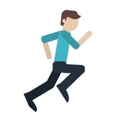 Man running people person young vector