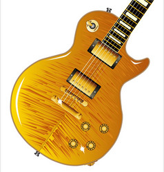 maple top guitar vector image